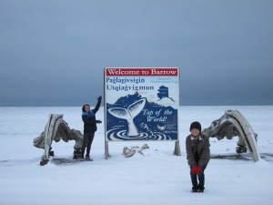 Cristian Raether and Alexa Potts at the Top of the World in Barrow, Alaska